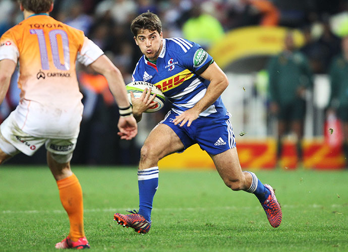 CAPE TOWN, SOUTH AFRICA - MAY 30: Demetri Catrakilis of the Stormers during the Super Rugby match between DHL Stormers and Toyota Cheetahs at DHL Newlands Stadium on May 30, 2015 in Cape Town, South Africa. (Photo by Luke Walker/Gallo Images)