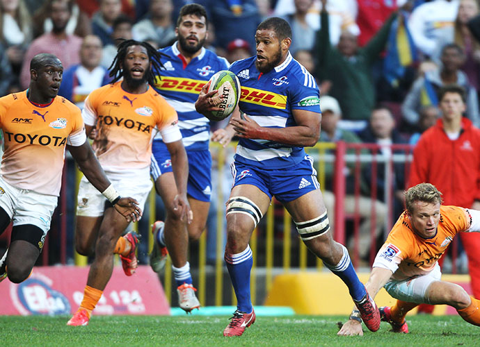 CAPE TOWN, SOUTH AFRICA - MAY 30: Nizaam Carr of the Stormers during the Super Rugby match between DHL Stormers and Toyota Cheetahs at DHL Newlands Stadium on May 30, 2015 in Cape Town, South Africa. (Photo by Luke Walker/Gallo Images)