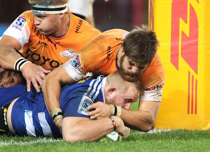 CAPE TOWN, SOUTH AFRICA - MAY 30: Vincent Kochof the Stormers during the Super Rugby match between DHL Stormers and Toyota Cheetahs at DHL Newlands Stadium on May 30, 2015 in Cape Town, South Africa. (Photo by Luke Walker/Gallo Images)