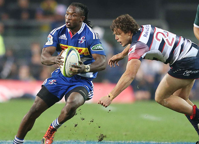 CAPE TOWN, SOUTH AFRICA - MAY 23: Seabelo Senatla of the Stormers during the Super Rugby match between DHL Stormers and Melbourne Rebels at DHL Newlands Stadium on May 23, 2015 in Cape Town, South Africa. (Photo by Carl Fourie/Gallo Images)