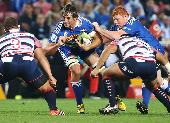 CAPE TOWN, SOUTH AFRICA - MAY 23: Eben Etzebeth of the Stormers during the Super Rugby match between DHL Stormers and Melbourne Rebels at DHL Newlands Stadium on May 23, 2015 in Cape Town, South Africa. (Photo by Carl Fourie/Gallo Images)