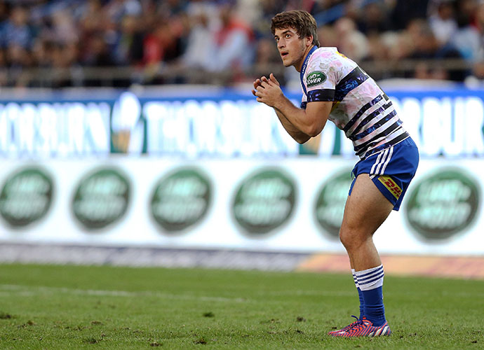CAPE TOWN, SOUTH AFRICA - MAY 09: Demetri Catrakilis of the Stormers during the Super Rugby match between DHL Stormers and Brumbies at DHL Newlands Stadium on May 09, 2015 in Cape Town, South Africa. (Photo by Carl Fourie/Gallo Images)