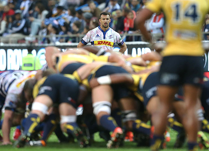 CAPE TOWN, SOUTH AFRICA - MAY 09: Dillyn Leyds of the Stormers during the Super Rugby match between DHL Stormers and Brumbies at DHL Newlands Stadium on May 09, 2015 in Cape Town, South Africa. (Photo by Carl Fourie/Gallo Images)