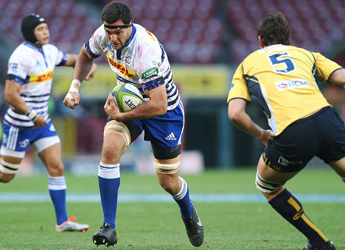 CAPE TOWN, SOUTH AFRICA - MAY 09: Manuel Carizza of the Stormers during the Super Rugby match between DHL Stormers and Brumbies at DHL Newlands Stadium on May 09, 2015 in Cape Town, South Africa. (Photo by Carl Fourie/Gallo Images)