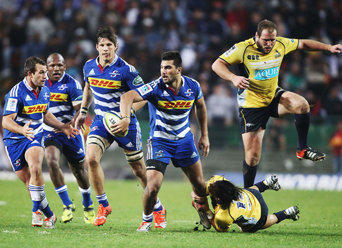 CAPE TOWN, SOUTH AFRICA - JUNE 20: Damian de Allende of the Stormers during the Super Rugby match between DHL Stormers and Brumbies at DHL Newlands Stadium on June 20, 2015 in Cape Town, South Africa. (Photo by Luke Walker/Gallo Images)