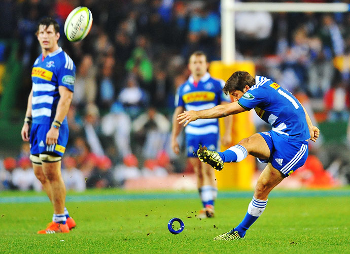 CAPE TOWN, SOUTH AFRICA - JUNE 20: Demetri Catrakilis of the Stormers during the Super Rugby Qualifying Final match between DHL Stormers and Brumbies at DHL Newlands Stadium on June 20, 2015 in Cape Town, South Africa. (Photo by Ashley Vlotman/Gallo Images)