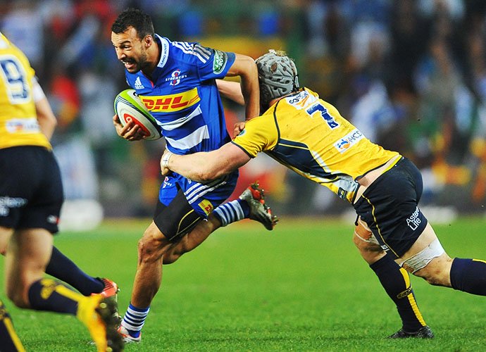 CAPE TOWN, SOUTH AFRICA - JUNE 20: Dillyn Leyds of the Stormers during the Super Rugby Qualifying Final match between DHL Stormers and Brumbies at DHL Newlands Stadium on June 20, 2015 in Cape Town, South Africa. (Photo by Ashley Vlotman/Gallo Images)