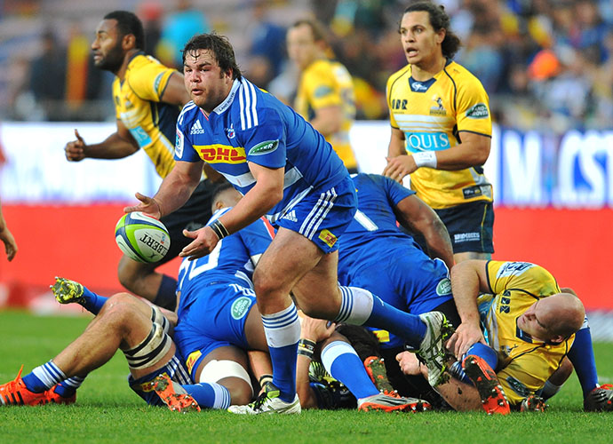 CAPE TOWN, SOUTH AFRICA - JUNE 20: Frans Malherbe of the Stormers during the Super Rugby Qualifying Final match between DHL Stormers and Brumbies at DHL Newlands Stadium on June 20, 2015 in Cape Town, South Africa. (Photo by Ashley Vlotman/Gallo Images)