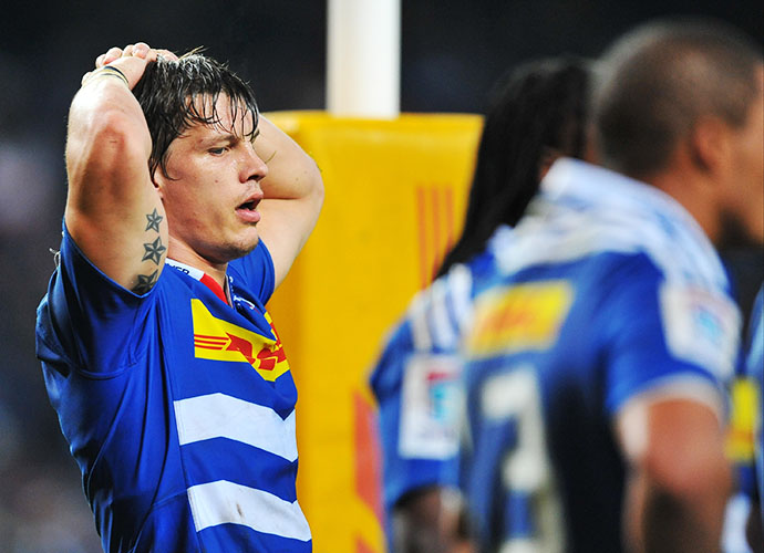 CAPE TOWN, SOUTH AFRICA - JUNE 20: Michael Rhodes of the Stormers during the Super Rugby Qualifying Final match between DHL Stormers and Brumbies at DHL Newlands Stadium on June 20, 2015 in Cape Town, South Africa. (Photo by Ashley Vlotman/Gallo Images)