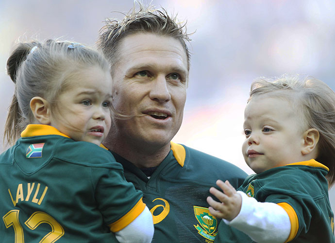 CAPE TOWN, SOUTH AFRICA - SEPTEMBER 27: Jean de Villiers of South Africa during The Castle Rugby Championship match between South Africa and Australia at DHL Newlands on September 27, 2014 in Cape Town, South Africa. (Photo by Luke Walker/Gallo Images)