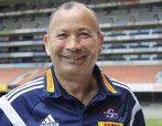 CAPE TOWN, SOUTH AFRICA - NOVEMBER 12: New Stormers coach Eddie Jones during the DHL Stormers Head Coach arrival press conference at DHL Newlands Stadium on November 12, 2015 in Cape Town, South Africa. (Photo by Ashley Vlotman/Gallo Images)